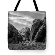 Black White Valley Of Fire  Tote Bag
