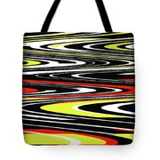 Black Yellow Red White Abstract Tote Bag