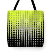 Black Yellow White With Abstract Action Tote Bag