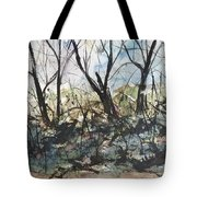Blackberries And Trees Tote Bag