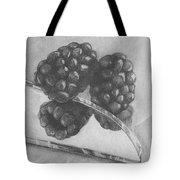 Blackberries On Glass Tote Bag