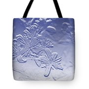 Blackberry Flower In Blue Tote Bag