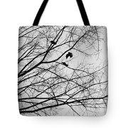 Blackened Birds Tote Bag