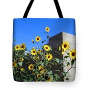 Blackeyed Susans And Adobe Tote Bag