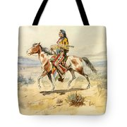 Blackfoot Indian. A Crow Scout Tote Bag