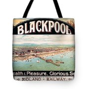 Blackpool, England - Retro Travel Advertising Poster - Seaside Resort - Vintage Poster Tote Bag