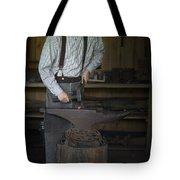 Blacksmith At Work Tote Bag