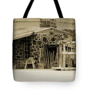 Blacksmith Shop 1867 Cove Creek Fort Utah Photograph In Sepia Tote Bag