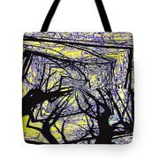 Blacky Bear Forest Tote Bag