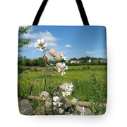 Bladder Campion On Stone Wall Tote Bag