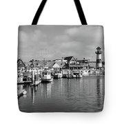Black And White Oceanside California Marina  Tote Bag