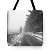 Blanchland Road In Winter, Slaley Woods Tote Bag