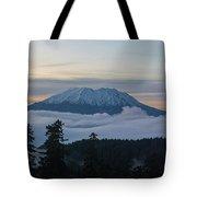 Blanket Of Fog Below Mount Saint Helens Tote Bag