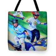 Blasting Boarders Tote Bag by Hanne Lore Koehler
