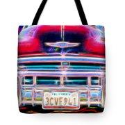 Blazing Chevy Tote Bag