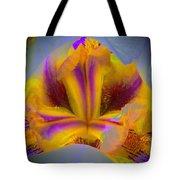 Blazing Heart Of An Iris Tote Bag
