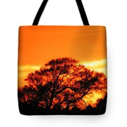 Blazing Oak Tree Tote Bag