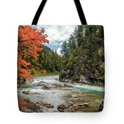 Blazing Red Mountain Maple, Greys River Tote Bag