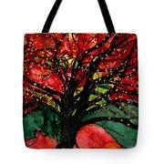 Blazing Red Orange Autumn Tree Tote Bag