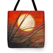 Blazing Sun And Wind-blown Grasses Tote Bag