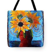 Blazing Sunflowers Tote Bag