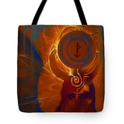 Blazzing Wisdom Through Odins Essence Tote Bag
