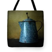 Blue Enamelware Coffee Pot Tote Bag
