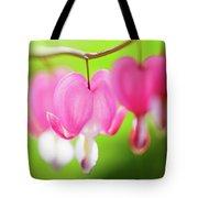 Bleeding Heart Flower Tote Bag