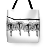 Bleeding Heart Flowers X-ray Tote Bag