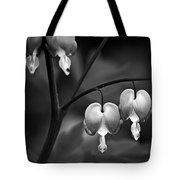 Bleeding Hearts In Bw Tote Bag
