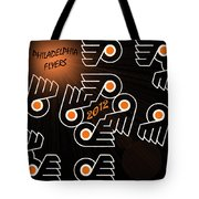Bleeding Orange And Black - Flyers Tote Bag by Trish Tritz