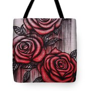 Bleeding Roses Tote Bag