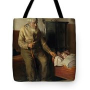 Blind Kristian Minding A Child Tote Bag