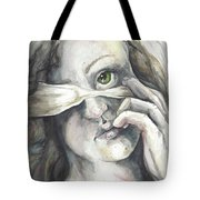 Blindfolded Tote Bag