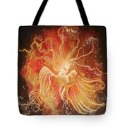 Blissful Fire Angels Tote Bag