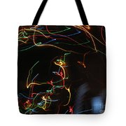 Blizzard Of Colorful Lights. Dancing Lights Series Tote Bag
