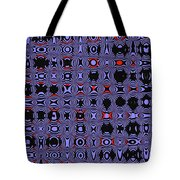 Bllue And Black Abstract #4 Tote Bag
