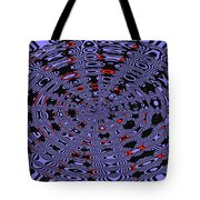 Blue Black Red Abstract Tote Bag
