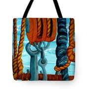 Block And Tackle Tote Bag