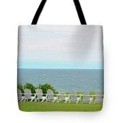 Block Island Hotel Ocean View Tote Bag