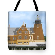 Block Island South East Rhode Island In Full Color Tote Bag
