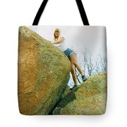Blond Rock Climber Tote Bag