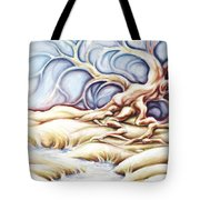 Blonde And Blue Tote Bag