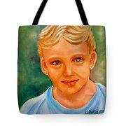 Blonde Boy Tote Bag