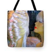Blonde, Braids, Bangs And Beautiful Tote Bag
