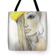 Blonde Hair, Yellow Hat -- The Original Tote Bag