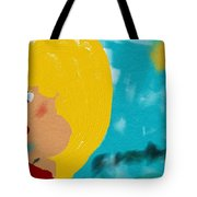 Blonde Looking For Thought Tote Bag