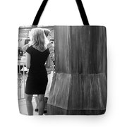 Blonde Waiting For Taxi Tote Bag