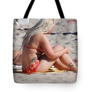 Blondie Braids Tote Bag