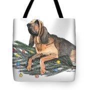 Blood Hound Christmas Tote Bag